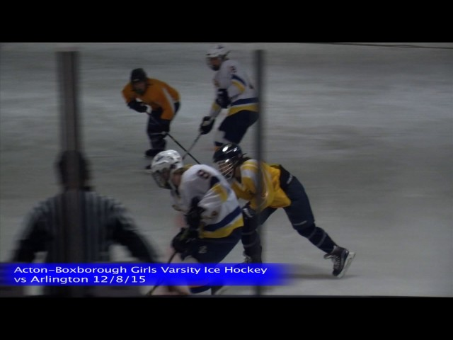 Acton Boxborough Varsity Girls Ice Hockey vs Arlington 12/8/15