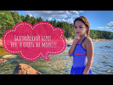 Балтийское море Финский залив. Пляж в деревне Липово город Сосновый Бор. Отдых лето август 2019 .ne,