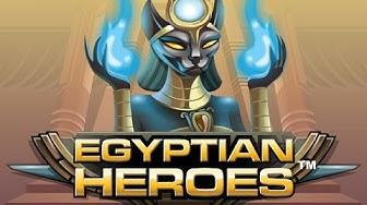 Free Egyptian Heroes slot machine by NetEnt gameplay ★ SlotsUp