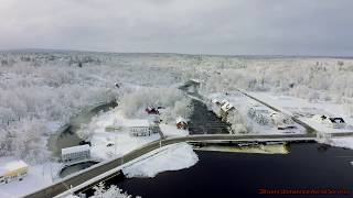 Autel Evo Video of Spring Snow Storm Aftermath