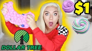 DOLLAR TREE SLIME CHALLENGE! How To Make Slime with $1 Ingriedients! CHEAP SATISFYING SLIME