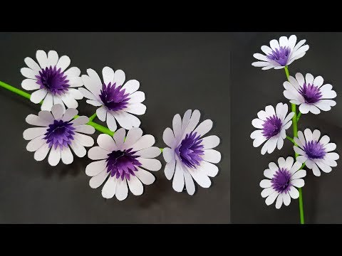 Paper Flower: How to Make Paper Stick Flower Home Decoration Idea!! DIY | Abigail Paper Crafts