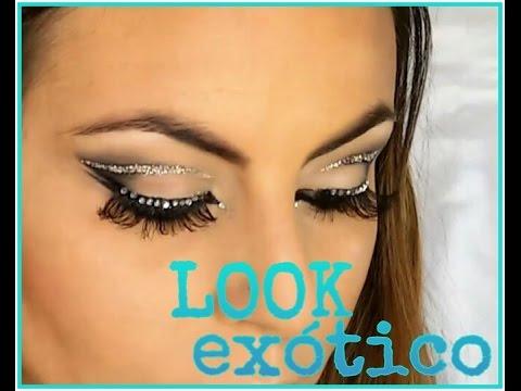 maquillaje arabe arabic makeup look exotico facil y sencillo ojos muy grandes