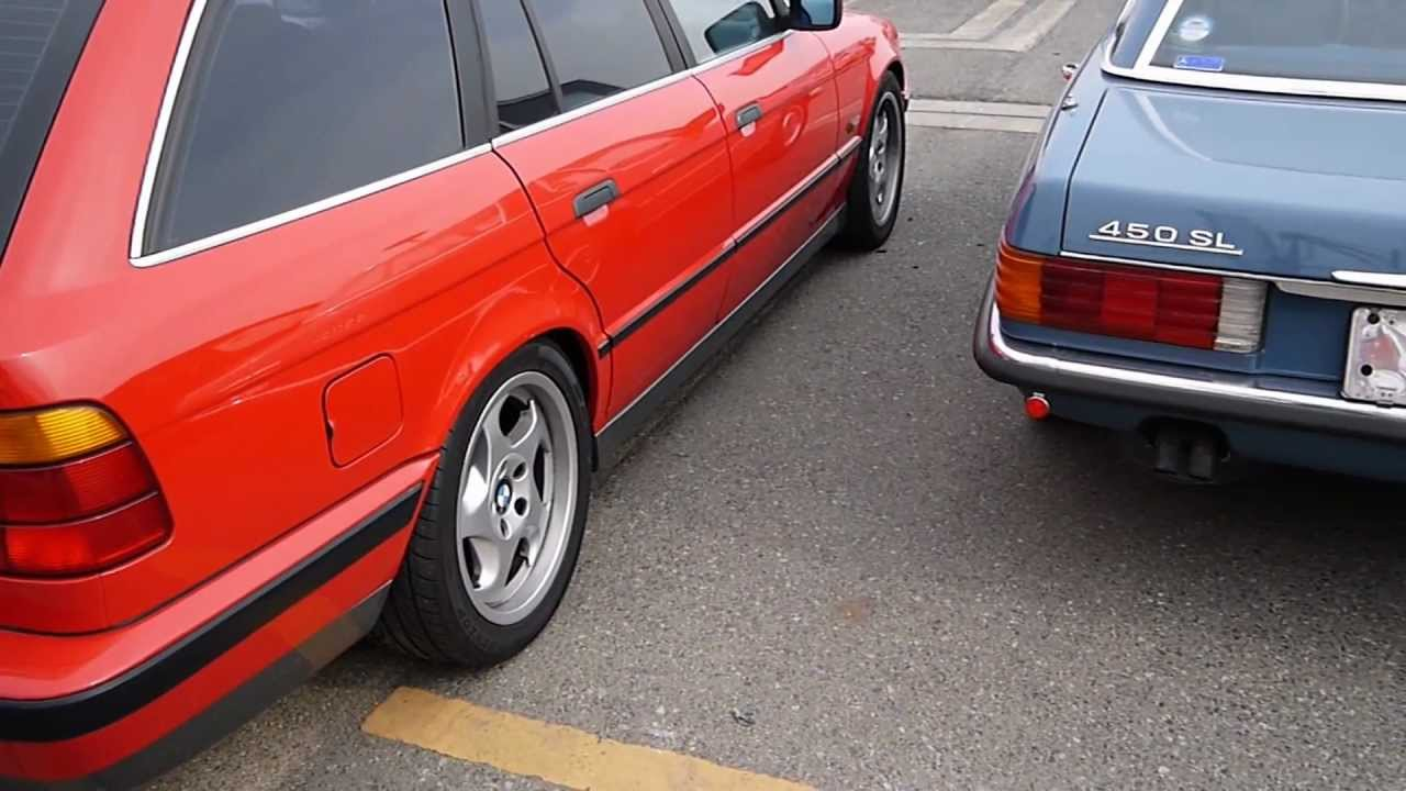 1995 bmw 540i touring sexy wagon in red youtube. Black Bedroom Furniture Sets. Home Design Ideas