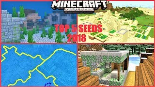 Minecraft PE - TOP 5 BEST VILLAGE SEEDS FOR MCPE 1.7.1 ! SNOW ZOMBIE VILLAGE & MORE | 2018