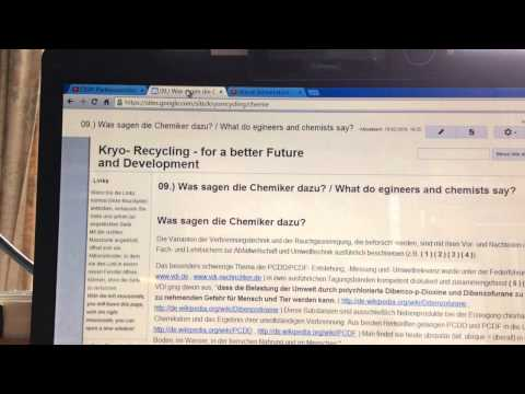 Waste Incineration - cronic poisoning of the People Part 8 Chemists