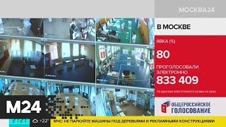 Общая явка на электронное голосование превысила 80% - Москва 24