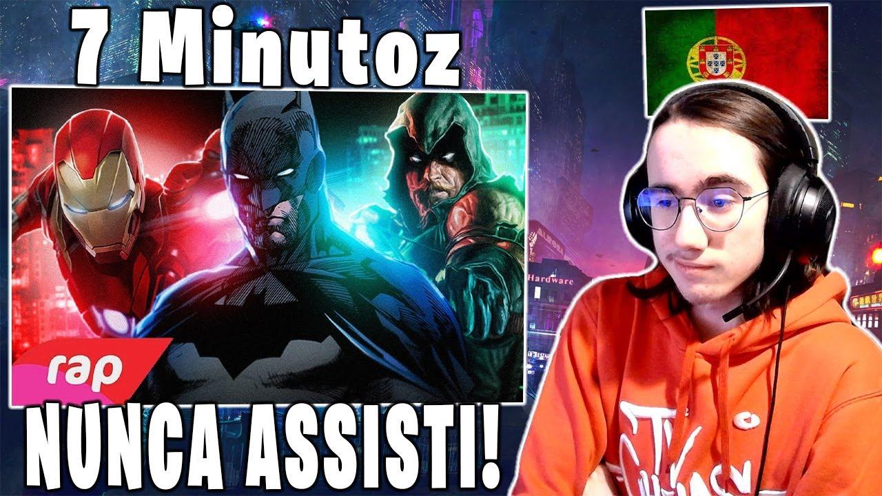Download Português 🇵🇹 reage a Rap do Homem de Ferro, Batman e Arqueiro Verde - SEM PODERES   NERD HITS 🇧🇷