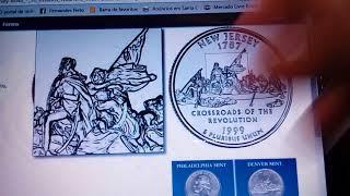 Quarter Dóllar 1999, New Jersey 1787