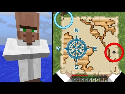 Minecraft 1.11 Exploration Maps - How to Use | Woodland Mansion | Ocean Monument