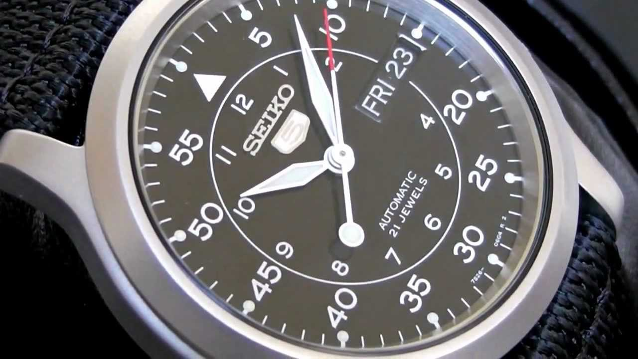 2s Time Seiko 5 Automatic Military Watch Snk809k2 Black Hawk Youtube