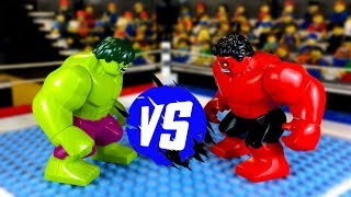 Халк против Красного Халка 🥊 Лего Мультики про Супергероев
