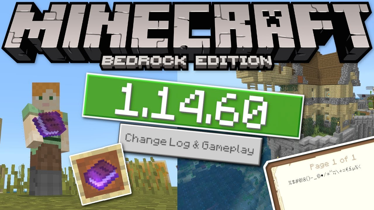 Minecraft Bedrock 1 14 60 Update Out Now Storage Crash Fix Change Log Ps4 Mcpe Xbox Windows Youtube