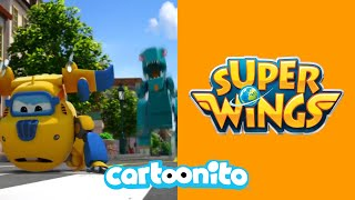 Super Wings | Runaway Dinosaur | Cartoonito