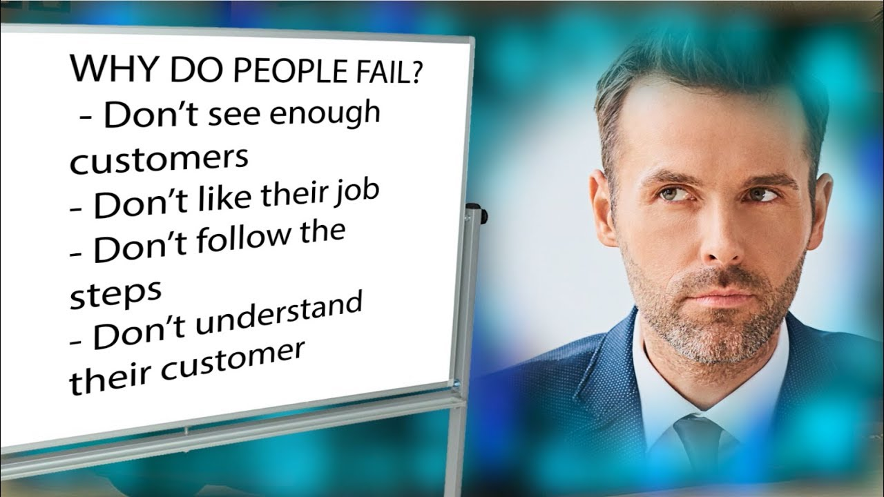 why salespeople fail Statistics show that around one third of all salespeople fail to hit their quotas either permanently, or from time to time discover the three common reasons why salespeople fail and how to develop a plan to help them bounce back.