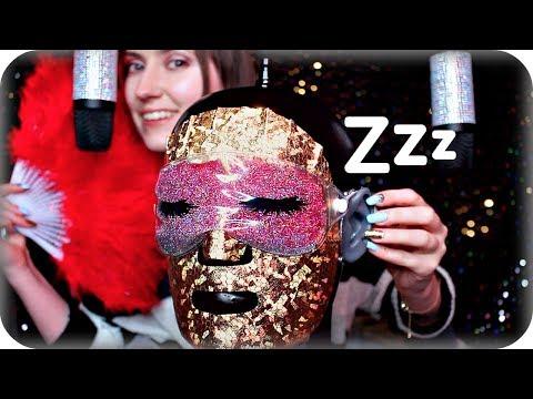ASMR Sleepy Head 😴 Crunchy, Sticky, Oil Ear Massage, Konjac Sponges, Face Mask, Brushing, Crinkles +