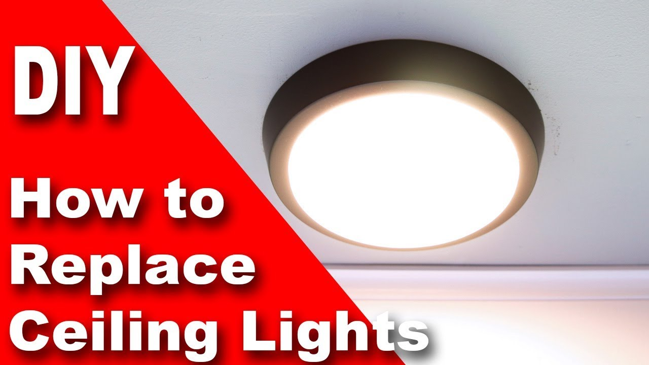 Replace Old Ceiling Light Fixture With 30 Modern Led