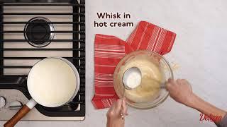 Delizza Rum Puff Bread Pudding
