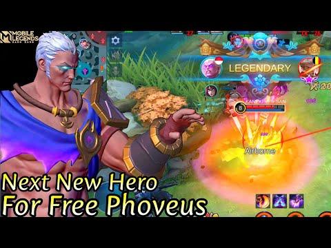 Next New Hero Phoveus Gameplay - Mobile Legends Bang Bang