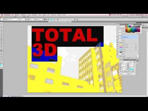 Photoshop - Effetto stile 3D cinematografico su testo e immagini