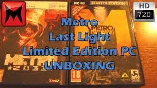 Metro Last Light Limited Edition PC Steam Version Unboxing Video HD[720p]