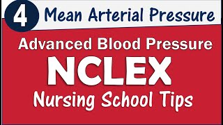 What is Mean Arterial Pressure and Blood Pressure Normal for NCLEX and Nursing School KAMP's