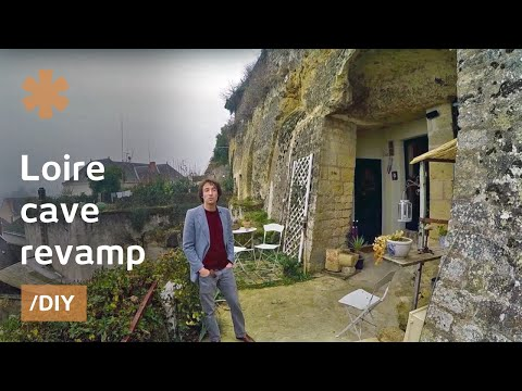Young couple transforms old Loire cave in unique home/rental