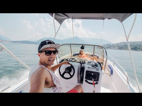 SPEED BOATING ON LAKE COMO | #3 - Italy | Travel Vlog