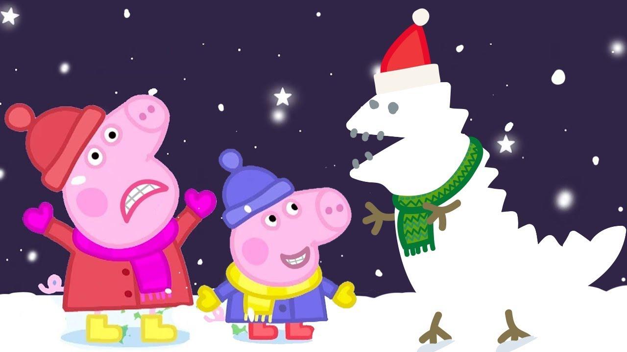 Peppa Pig Natale.Peppa Pig Italiano Neve Collezione Italiano Cartoni Animati Peppa Natale Youtube