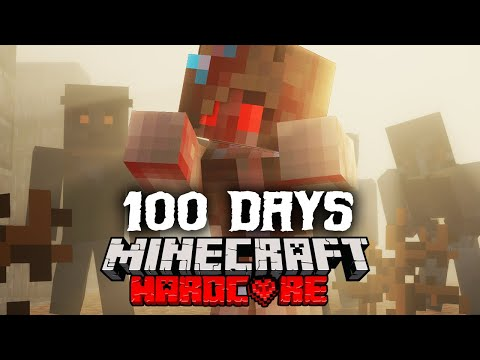 I Spent 100 Days in a Post-Apocalyptic WASTELAND in Minecraft and Here's What Happened