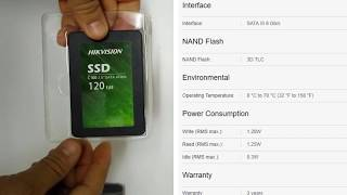 sSD HIKVISION C100 HS-SSD-C100 / 120G Review and Speed Test 01