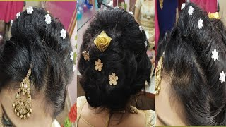 Engagement Hair Style /Simple and Easy Party Hair Style