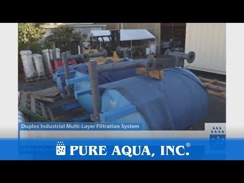 Duplex Industrial Multi Layer Filtration System USA 2x 160 GPM | www.pureaqua.com