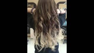 Наращивание волос, омбре без окрашивания