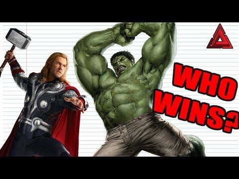 EVERY Thor VS Hulk Fight EVER!