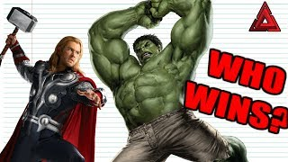 EVERY Thor VS Hulk Fight EVER!