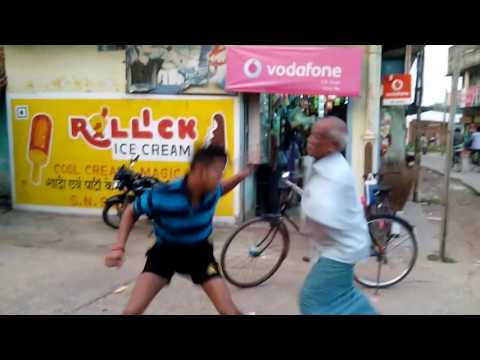 Street fighting with an old man
