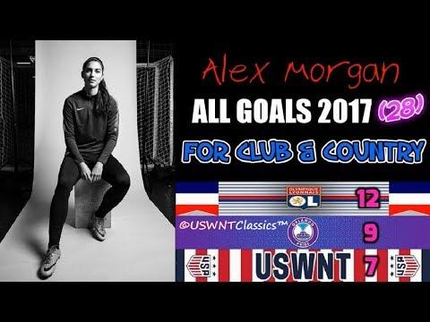 """Alex Morgan: """"ALL 28 Goals of 2017"""" (Lyon, Pride, WNT) 🇫🇷🏳️🌈🇺🇸 #AM13 ➡️ #BOSS"""