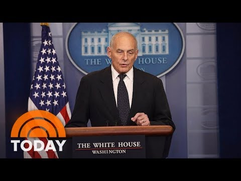 White House Chief Of Staff John Kelly Defends President Donald Trump's Call To Widow | TODAY
