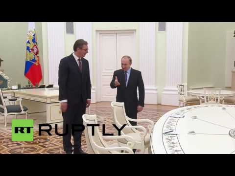 Russia: Putin meets Serbian PM Vucic to discuss bilateral ties