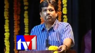GVN Raju  speaks on Onaamaalu function in Telugu University auditorium.flv