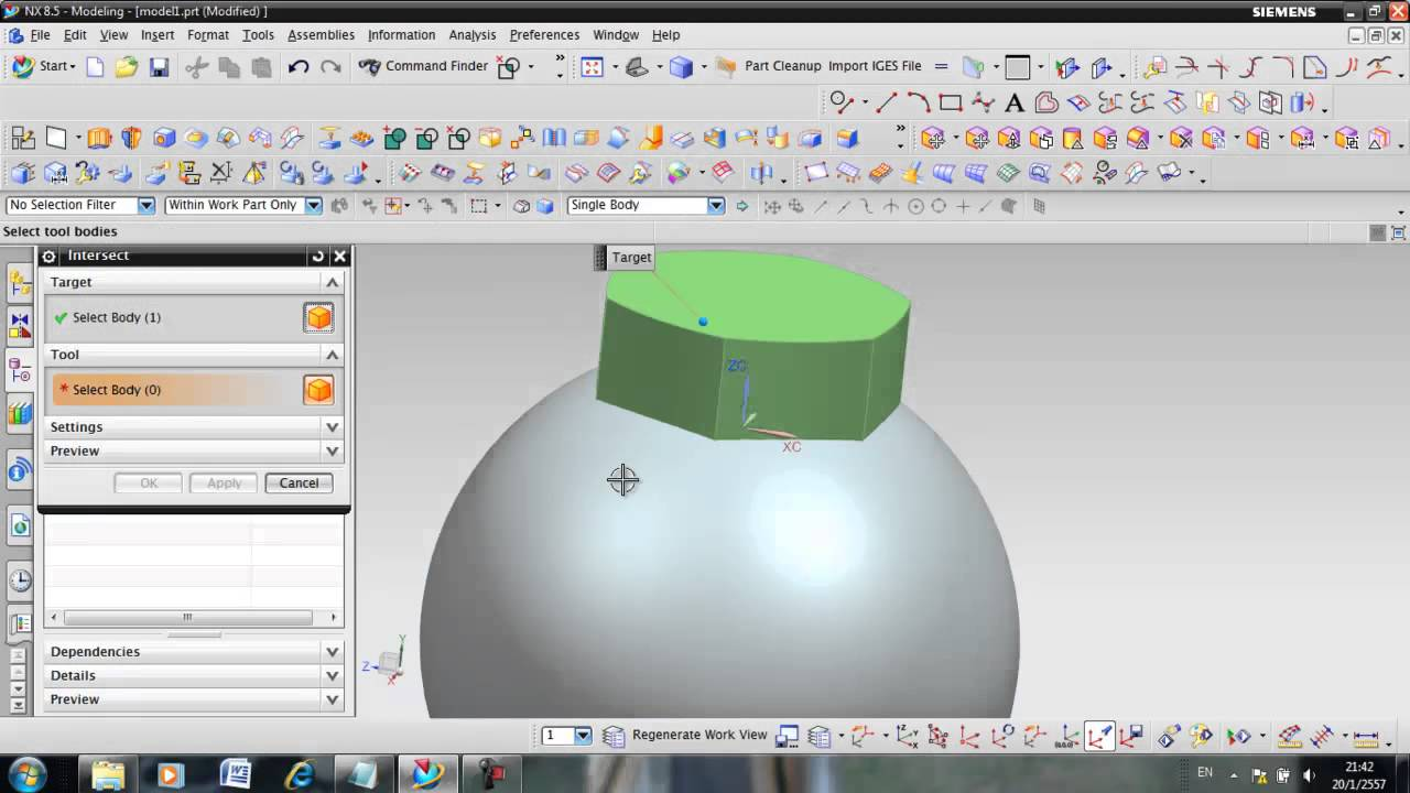 unigraphics nx sample training reverse engineer from scan