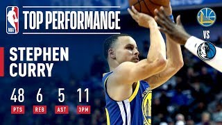 Stephen Curry Drops A BLAZING 48 Points Including 11 3PM | January 13, 2019