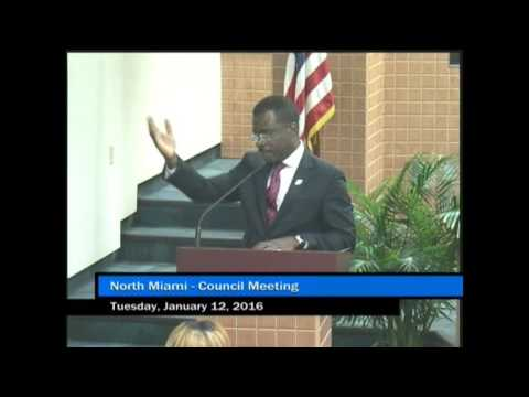 North Miami Council Meeting - January 12, 2016 - Part 1