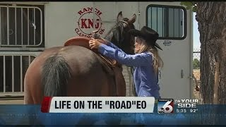 Traveling life of a rodeo cowboy