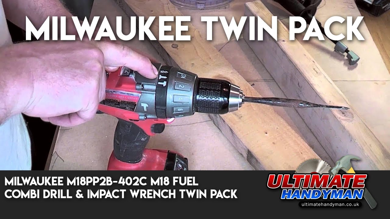 Milwaukee M18 Fuel Combi Drill Impact Wrench Twin Pack