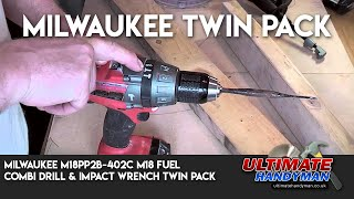 Milwaukee M18PP2B-402C M18 Fuel Combi Drill & Impact Wrench Twin Pack