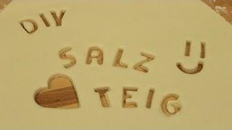 Salzteig selber machen   Salzteig Rezept   Knete selber machen zum Basteln & Spielen