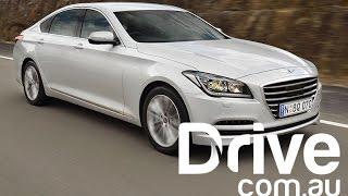 Hyundai Genesis First Australian Drive Review Drive.com.au смотреть