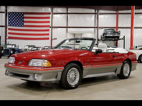 1988 Ford Mustang GT Convertible Red 2